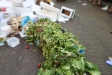 As the shuk closes for Shabbat fruits and vegetables that can be sold are sometimes spilled